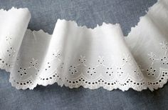 wide cotton eyelet lace 1yard width 9cm white by cottonholic, $5.00