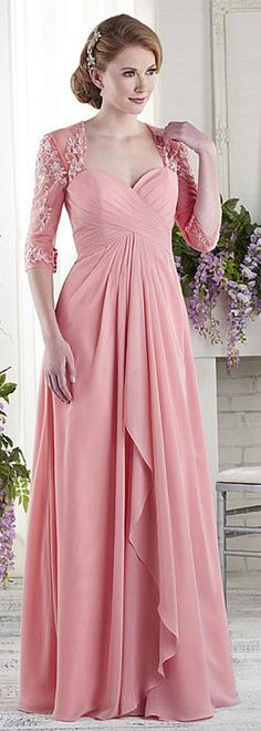Attractive Tulle & Chiffon Sweetheart Neckline A-line Mother Of The Bride Dresses With Beaded Lace Appliques