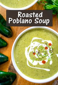 I've been tweaking the measurements in this Poblano Soup recently and thought I would repost it for anyone who's new to it. It's one of my favorite recipes on the site, and it's the perfect antidote for cold, grey days. #poblano #soup Slow Cooker Recipes, Crockpot Recipes, Healthy Recipes, Best Comfort Food, Comfort Foods, Poblano Soup, My Favorite Food, Favorite Recipes, Ethnic Food