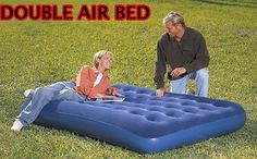 New #inflatable double flocked air bed airbed #mattress #camping indoor outdoor,  View more on the LINK: 	http://www.zeppy.io/product/gb/2/130928432588/