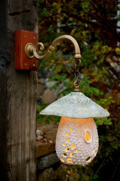 Handmade ceramic LED lantern...so want it!