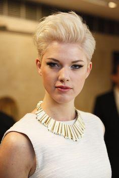 Haute Coiffure Française Trophy 2013. Blonde pixie haircut.