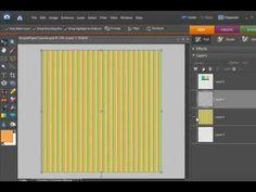 Digital Scrapbooking Designer Tutorial: Striped Paper