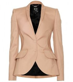 McQ by Alexander McQueen Blazer with Tiered Ruffled Back Trim - Lyst