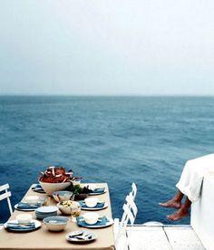 blue, dream, the ocean, amalfi coast, dinner parties, sea, lunch, beach, place