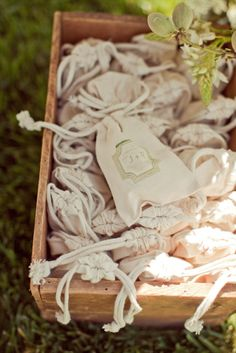 Stamped favor or toss bags. Photography by carliestatsky.com