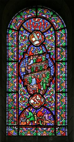 Tower of Babel, Ely Cathedral Stained Glass Church, Stained Glass Art, Stained Glass Windows, Mosaic Glass, Pierre Loti, Ely Cathedral, Cathedral Windows, Tower Of Babel, Church Windows