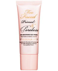 Too Faced Primed & Poreless Skin Smoothing Face Primer - is powerful enough to wear alone to instantly look refreshed and keep skin healthy and radiant or under other makeup for a fresh canvas. Makeup looks better longer, lightweight formula keeps makeup color true and in-place all-day, creates an ultra silky, smooth canvas to minimize appearance of pores and imperfections, creates appearance of brighter skin. Powerful antioxidants to keep skin looking firmer, nourished and brighter.