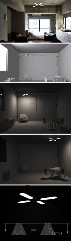 None of your furniture is immobile, so why should your ceiling lights be static? That's the essence of Lili lighting! In the same way you can move your sofa, desk, or TV, you can also move Lili to adapt to your individual needs. In fact, it's even easier to move Lili around than any furniture. Unlike other ceiling lights which are often fixed in placed, Lili utilizes a large system of 4 pulleys that allow it to move to any position in a room on a whim.