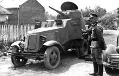 Captured by the Germans Russian armored car Armored Vehicles, Armored Car, Medium Armor, Armoured Personnel Carrier, Tank Armor, Germany Ww2, Military Pictures, Cool Tanks, Military Diorama