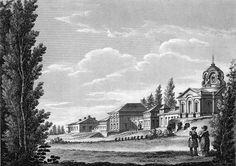 Palais de Ropsha en 1762 lors de l'assassinat I - Gravure de Quarenghi.
