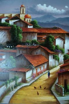 PAISAJES MEXICANOS PARA PINTAR Paisajes Mexicanos al Óleo Sobre Lienzo Pintura Mexicana al Óleo Paisaje de México Pintado al Óleo PAISAJE... Mexican Artwork, Mexican Paintings, Pictures To Paint, Art Pictures, Beautiful Love Pictures, Easy Canvas Painting, Z Arts, Impressionism Art, Cool Paintings