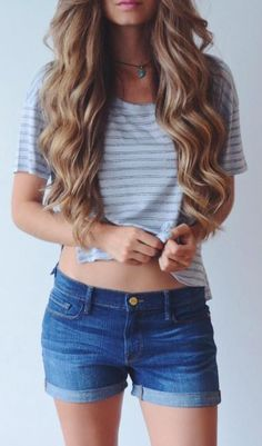 #summer #style / stripes + denim