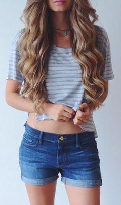 #summer #style / stripes + denim