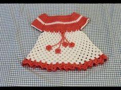 Vestidinho em croche infantil para bebê Parte 1 - Crochet dress - Ganchi...