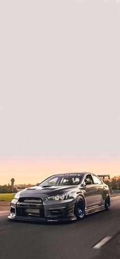 Evo X, Mitsubishi Lancer Evolution, Tuner Cars, Car Wallpapers, Custom Wallpaper, Car Stuff, Slammed, Sport Cars, Dream Cars