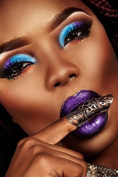 Purple & Black Semi Matte Liquid Lips