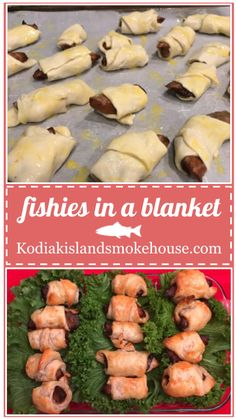 Remember when you were a kid and loved eating pigs in a blanket? Now that we are all grown up, I think we should indulge ourselves in the finer flavors in life. I'm talking about smoked cod in a blanket! Plus, with Kodiak Island Smokehouse smoked cod pieces, you know exactly what you are getting, delicious, fresh, wild caught Alaskan smoked cod. With the piggies...well maybe the mystery meat was part of the fun when we were younger.