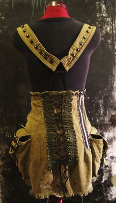 Post-apocalyptic very Short Overall Dress makes with by TrAshWorld