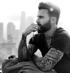 Beard Styles For Men, Hair And Beard Styles, Thick Beard, Silky Smooth Hair, Hottest Male Celebrities, Famous Celebrities, Inked Men, Beard Grooming, Men Photography