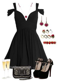 """I'm feeling... Fancy."" by galaxyfab9000 ❤ liked on Polyvore featuring Christian Louboutin, Monet and ASOS"