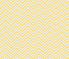 nailed it Chevron lemon yellow and gray fabric by spacefem on Spoonflower - custom fabric