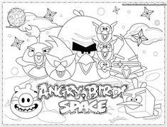 Coloring Page Angry Bird Free