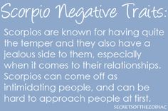 Negative traits of scorpio man