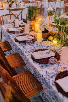La Dolce Vita Meets Old-School Beach Style at This Wedding in Key Largo - Vogue Wedding Weekend, Wedding Reception, Wedding Ideas, Wedding Ceremonies, Wedding Pictures, Wedding Table, Amanda Jones, Vogue Wedding, Wedding Decorations