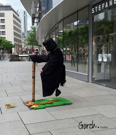 I took this pic in FfM, Germany. He was sitting on the air(?!)