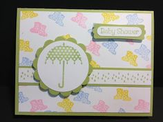 Rain or Shine Baby Shower Card Stampin' Up! Rubber Stamping