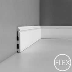 "SX118F Base Molding, Flexible, Primed White. Length: 78-3/4"" Height: 5-1/2"" ___________________________  Request Your FREE Catalog: http://form.outwater.com/oracusa.php"