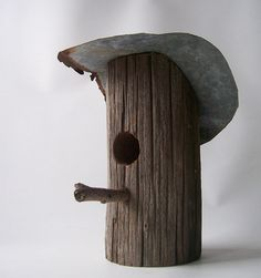 vintage bird house shabby chic cottage rustic by RecycleBuyVintage