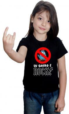 camiseta - eu quero é rock - Camisetas Personalizadas,Engraçadas|Camisetas Era Digital