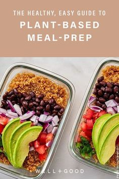 Starting plant based meal prep can be challenging if you're new to the eating plan. Here are some tips from a dietitian to build delicious, healthy meals. Plant Based Diet Meals, Plant Based Meal Planning, Plant Based Eating, Plant Based Recipes, Plant Based Nutrition, Vegan Nutrition, Vegan Meal Prep, Easy Meal Prep, Easy Meals