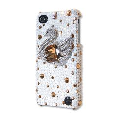 Swan Crystal Phone Case  #crystal #phonecase  http://www.playbling.com/en/crystal-phone-case/swan-crystal-phone-case.html
