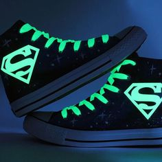 Japanese Glow in The Dark Superman Shoes