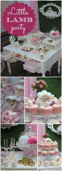 How sweet is this little lamb birthday party?! See more party ideas at CatchMyParty.com!