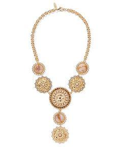 Goldtone Filigree Y-Shaped Necklace  - New York & Company
