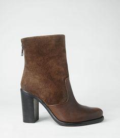 so comfortable...Womens Two Tone High Hessian Boot (Chocolate)   ALLSAINTS.com