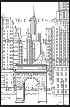 New York Coloring Books - √ 27 New York Coloring Books , New York City Skyline Over the Hudson River New York Printable Adult Coloring Pages, Coloring Book Pages, Cartoon Coloring Pages, Kids Coloring, Anatomy Coloring Book, City Drawing, Washington Square Park, Disney Images, Book Images