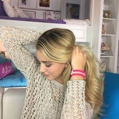 Chloe and her lokai bracelets