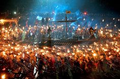The Viking procession at this week's Helly Aa festival on Lerwick the Shetland Islands Scotland.   fun funny funny pics