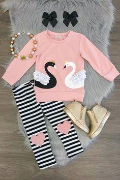 Toddler Kids Baby Girl Winter Princess Tops T-shirt Sweatshirt Long Pants Outfit Little Girl Outfits, Toddler Outfits, Kids Outfits, School Outfits, Winter Outfits, Baby Girl Fashion, Toddler Fashion, Kids Fashion, Suspenders For Kids