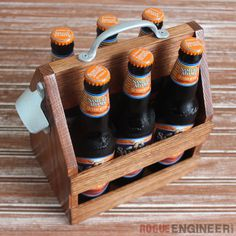 Build a Simple Tote for Da Beers . Free tutorial with pictures on how to decorate a crate in under 180 minutes by woodworking with oak, oak, and oak. How To posted by Rogue Engineer. in the Home + DIY section Difficulty: Cost: Cheap. Woodworking Jointer, Woodworking Projects That Sell, Learn Woodworking, Woodworking Plans, Custom Woodworking, Small Wood Projects, Easy Projects, Planer, Free Plans
