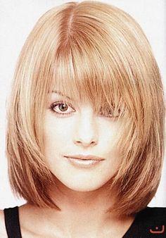 Mid Length Hair, Shoulder Length Hair, Medium Hair Styles, Short Hair Styles, Hair Medium, Medium Long, Medium Bob Bangs, Medium Shaggy Bob, Angled Bangs