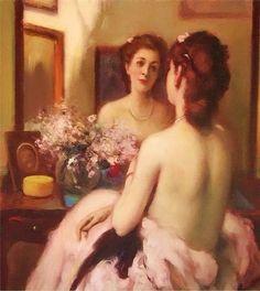 Fernand Toussaint(1873 - 1956 ) - Au Boudoir