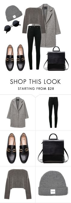 """Untitled #238"" by crisey ❤ liked on Polyvore featuring MANGO, Yves Saint Laurent and Topshop"