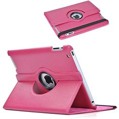 Apple iPad Case - Fits Perfectly iPad 4 iPad 3 and iPad 2 - Compare to Targus - Pink PU Leather Case with 360 Degree Rotating Swivel Stand Case-- Smart Cover Magnetic Sleep/Wake Function to Help You Save Energy - Built-in Magnet - Durable to Protect Your Investment - Two Years Satisfaction Guarantee MSKdt http://www.amazon.com/dp/B00IJS141E/ref=cm_sw_r_pi_dp_9LVSvb19V1JYW