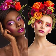 Kohl Makeup Cape Town created some magic in their latest in-house student shoots with photographer SJ van Zyl. Right: Makeup Rio Hooper. Flower Crown, Flower Art, Kohl Makeup, Beauty Editorial, Kohls, Cape Town, Glowing Skin, Fashion Photo, Headpiece